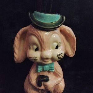 Vintage Dapper Pink Bunny